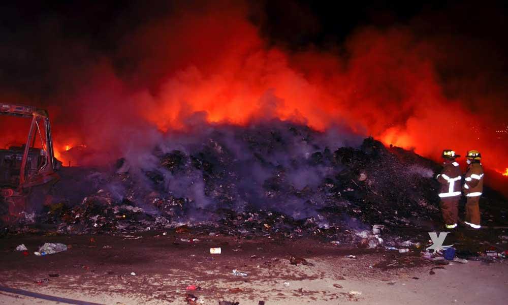 Se incendia Centro de Transferencia en Tecate