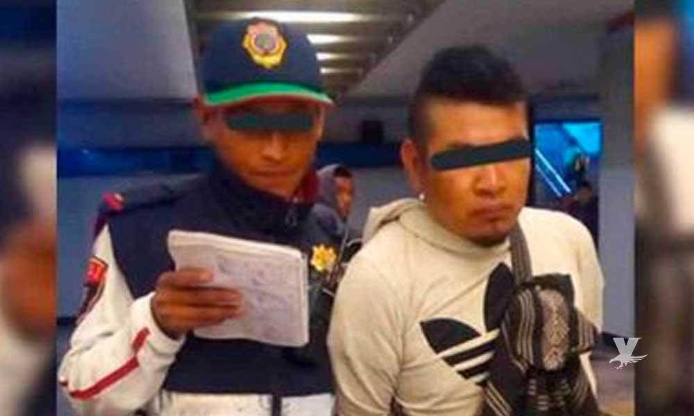 Detienen a hombre que se masturbaba frente a las mujeres en el metro de la CDMX