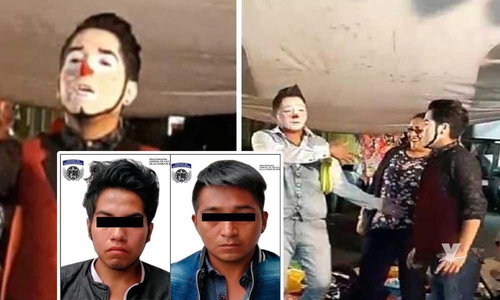 Detienen a dos payasos amenizadores por secuestrar a dos menores de edad después de una fiesta infantil