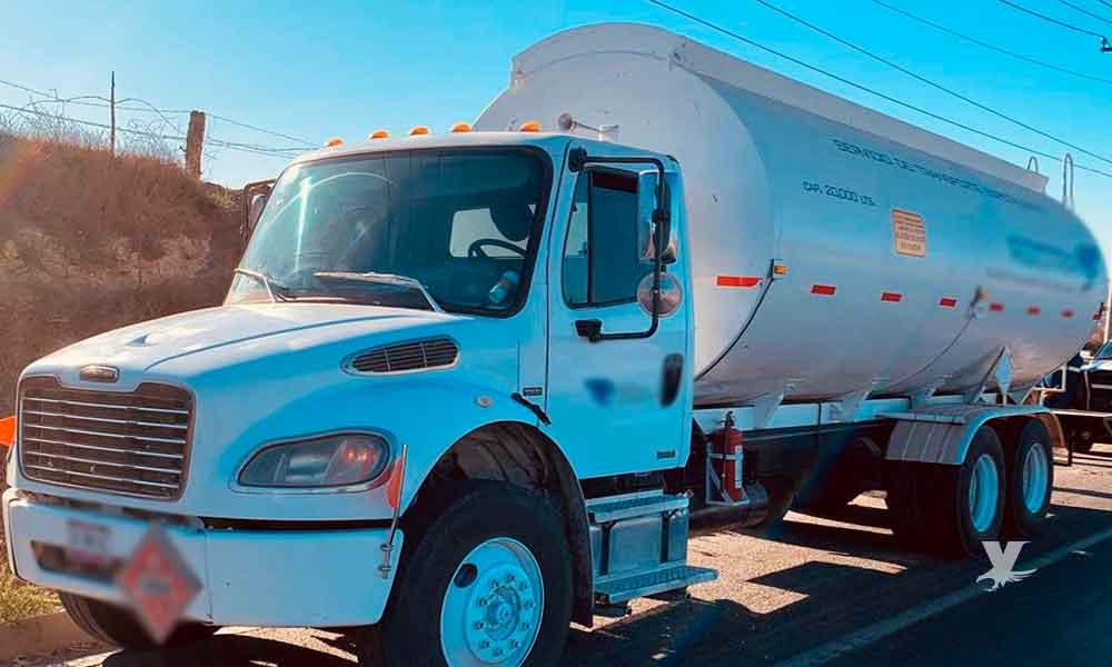 Recupera Guardia Nacional en carretera de Tijuana 20 mil litros de diésel presuntamente robado