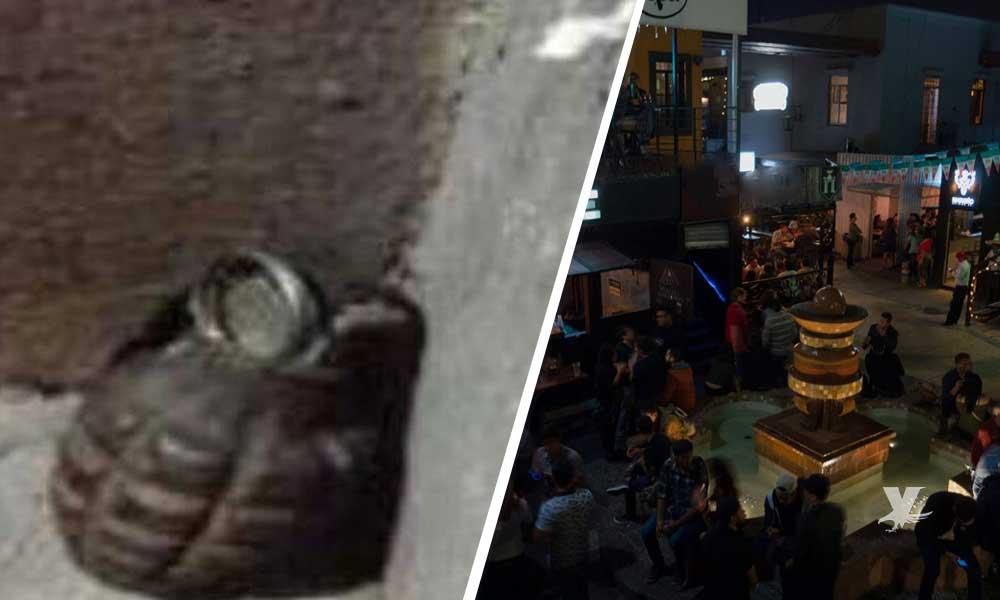 Granada de fragmentación es dejada en Plaza del Zapato en Tijuana