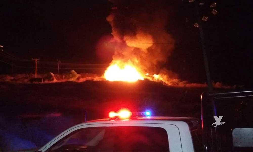 Atienden Bomberos de Tecate dos incendios, en la Sierrita y en el Centro de Transferencias