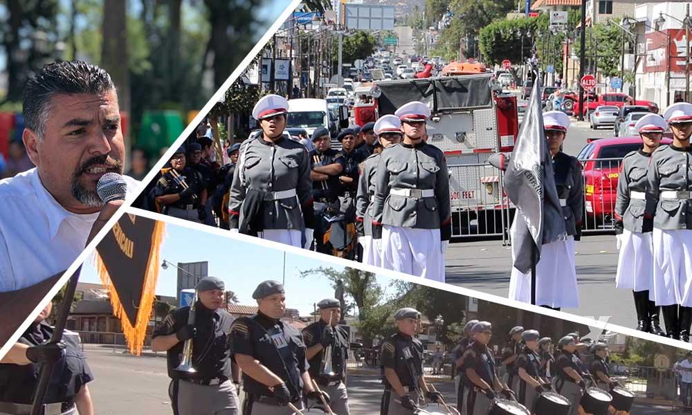 """(VIDEO) Realizan el concurso regional """"127 Aniversario de Tecate"""", de Bandas de Guerra y Escoltas"""