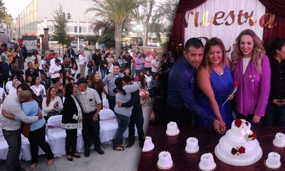 """11 Parejas dieron el """"Sí Acepto"""" durante la ceremonia de Matrimonios Colectivos en Tecate"""