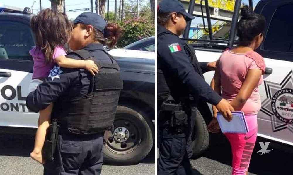 Mujer detenida amenazaba con arrojar a su hija desde un puente peatonal