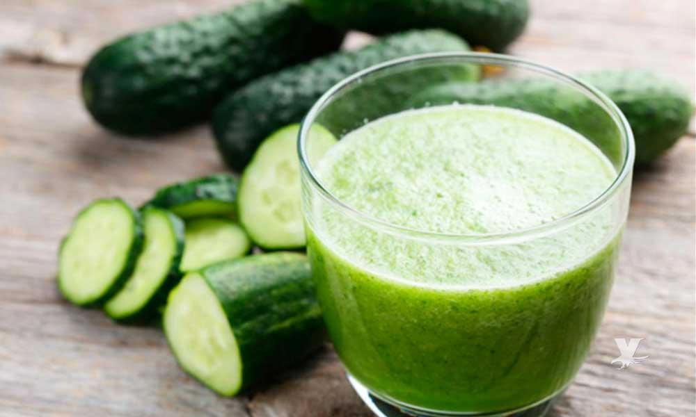 Dieta y salud; beneficios del jugo de pepino