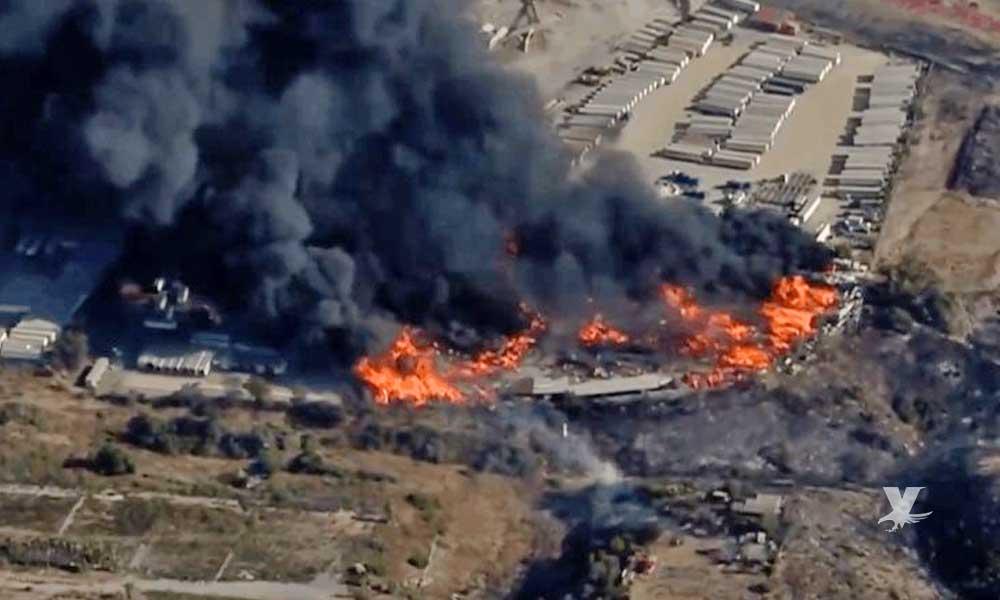Incendio en San Diego causa daños en edificios
