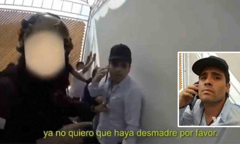 (VIDEO) Dan a conocer el video del momento exacto en que es detenido Ovidio Guzmán