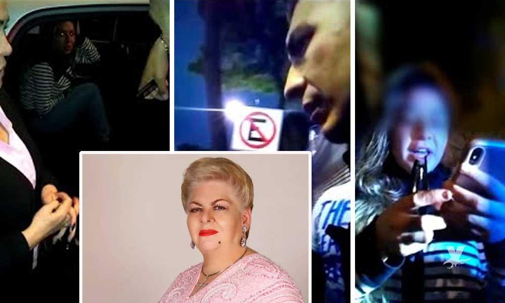 (VIDEO) Nieta de Paquita la del Barrio se arroja de Uber en movimiento e inventa supuesto secuestro