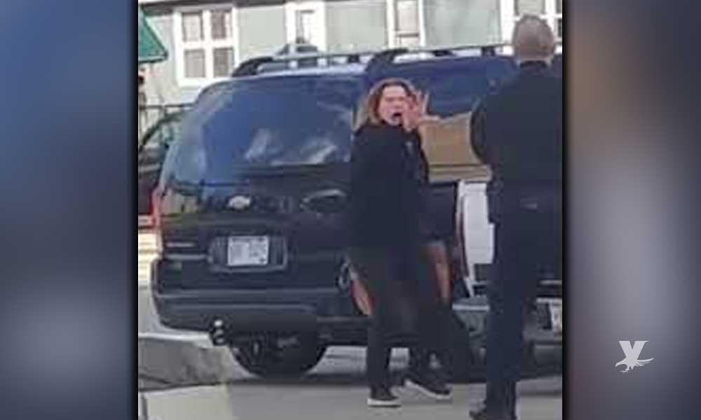 (VIDEO) Policía dispara con pistola eléctrica contra mujer supuestamente poseída