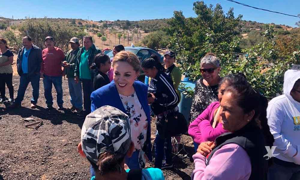 Recorre Zulema Adams la Zona Rural de Tecate