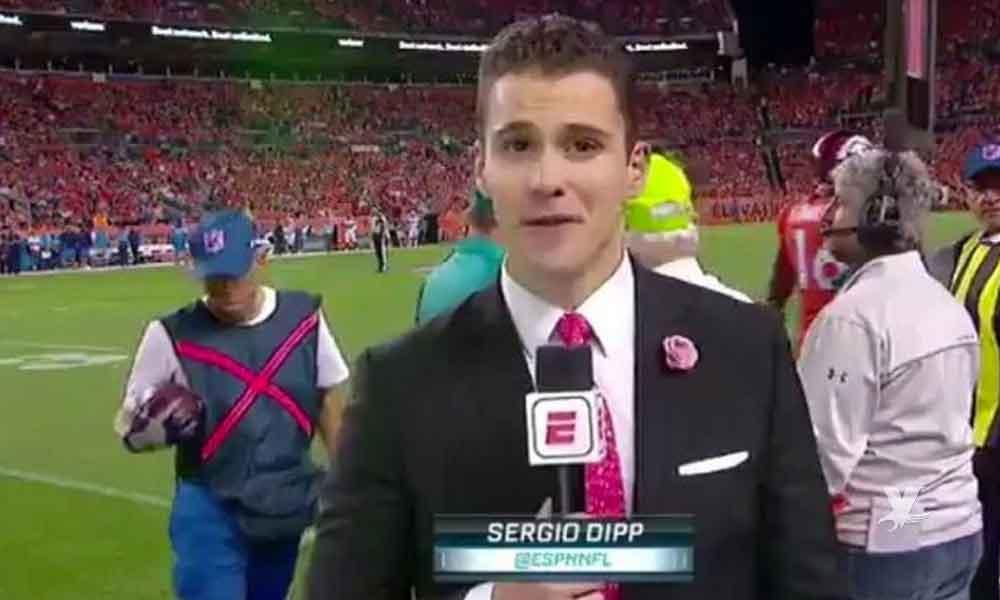 (VIDEO) Sergio Dipp es albureado en transmisión en vivo de la NFL