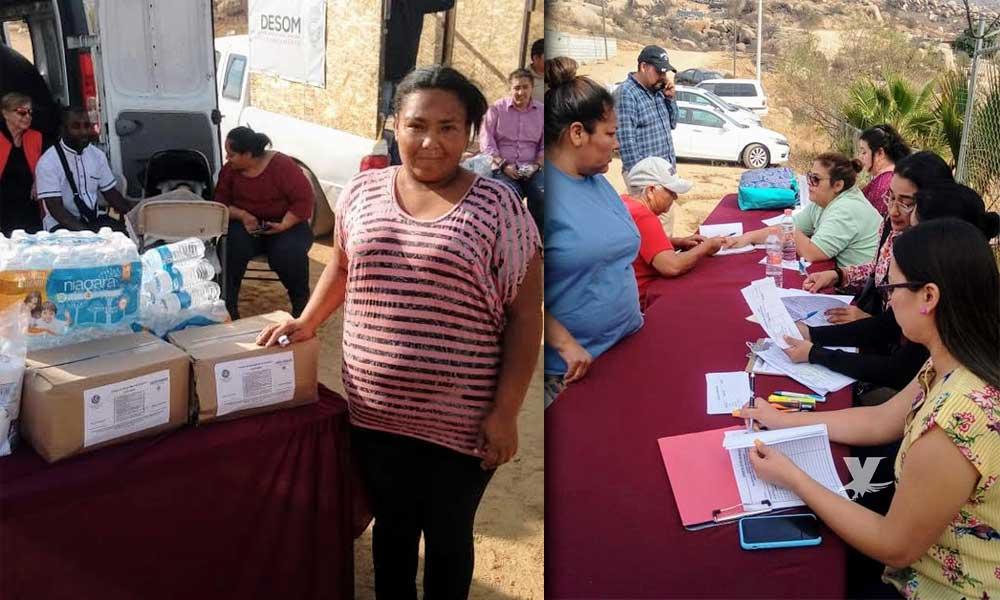 Ayuntamiento continua con la entrega de apoyos federales a familias afectas en Tecate