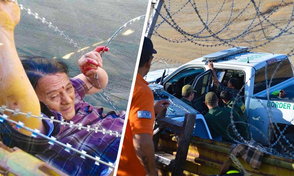Bomberos y Grupo BETA auxilian a migrante en Tecate
