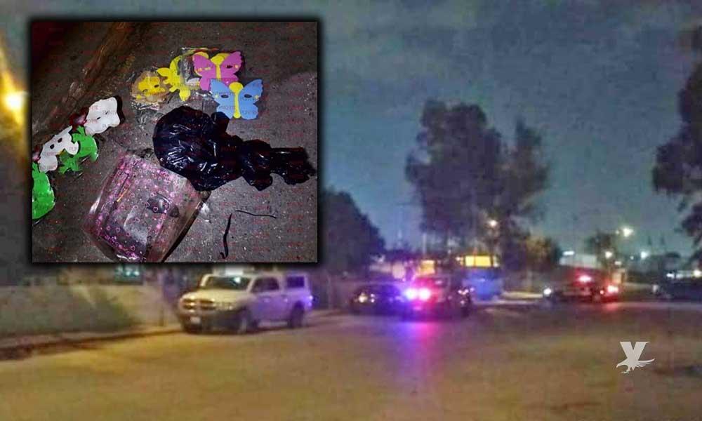 Arrojan máscaras y cabeza humana con narcomensaje en Vialidades y Transportes de Tijuana
