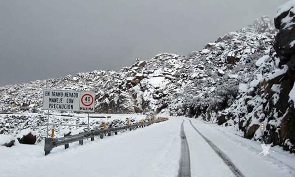 Primera tormenta invernal llegaría a Baja California con temperaturas de -5º centígrados