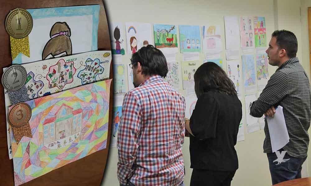 Alumnos de Tecate ganan etapa estatal del Concurso Nacional de Dibujo Infantil
