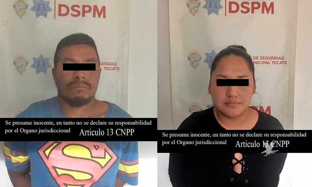 Detenidos por robo a comercio en Plaza Encinos y agresión, en Tecate