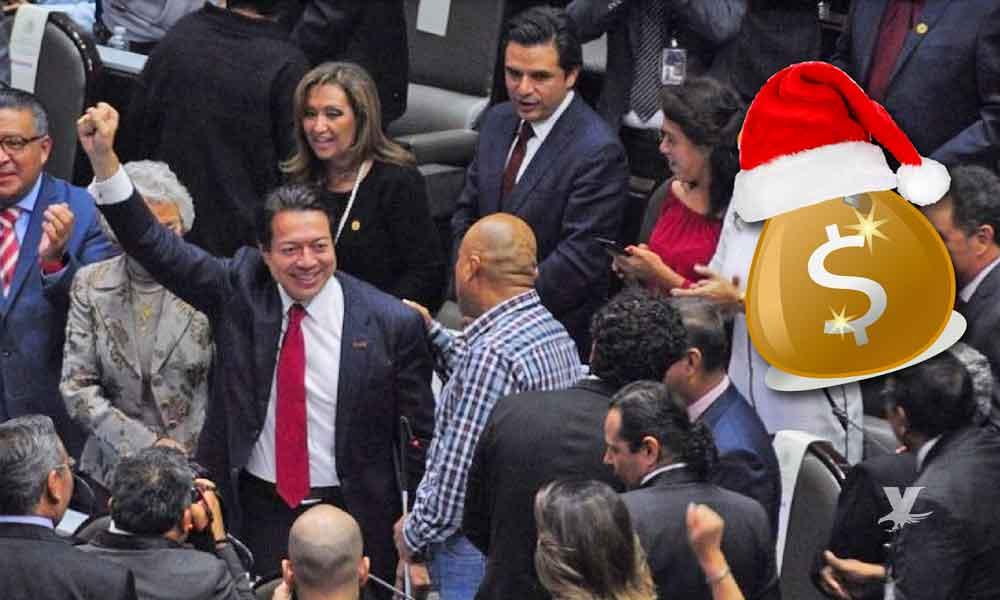 Aprueban diputados aumento de aguinaldo del 50% para el 2020