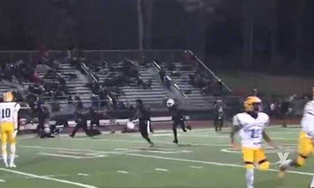 (VIDEO) Partido de futbol americano es suspendido después de una balacera en la tribuna