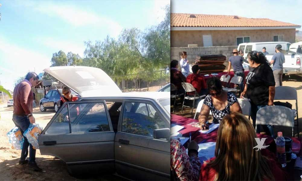 Familias de Capiri en Tecate reciben apoyos federales
