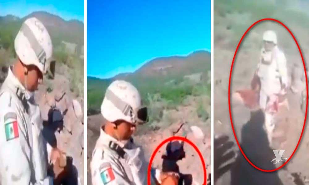 (VIDEO) Granada explota en mano de militar durante un entrenamiento