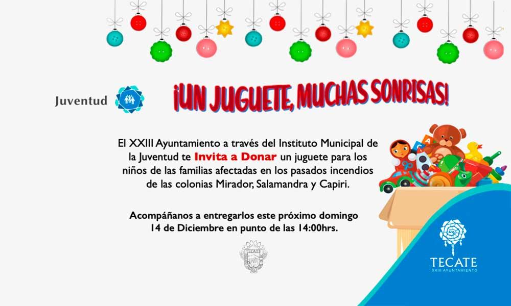Haz feliz a un niño esta navidad, dona un juguete a los niños del Mirador, Salamandra y Capiri en Tecate
