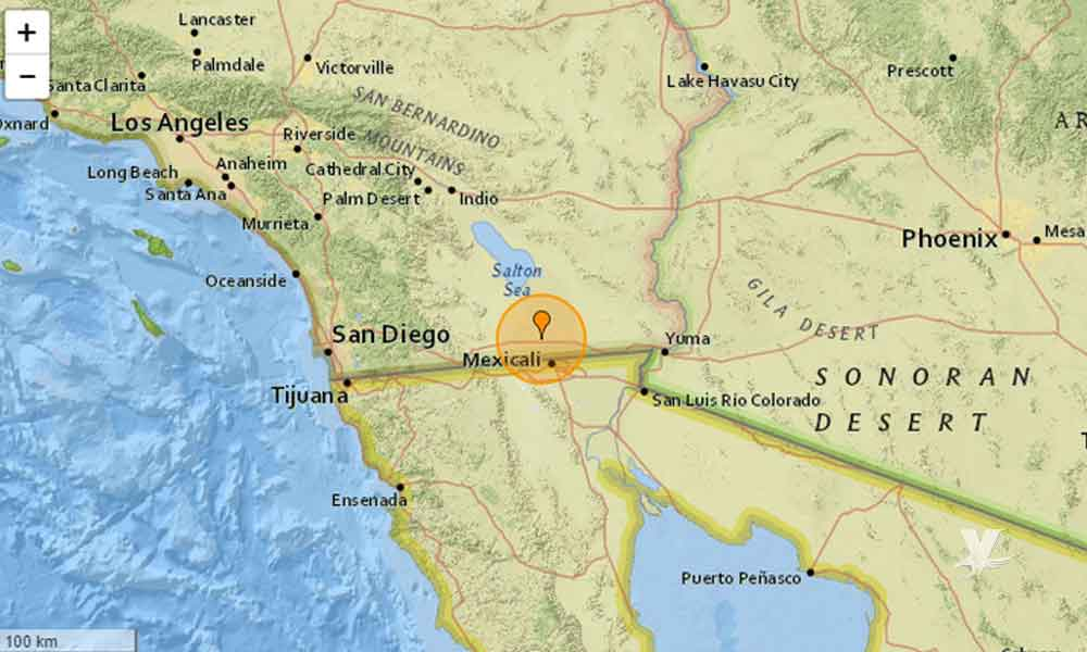 Tres sismos sacuden a Mexicali