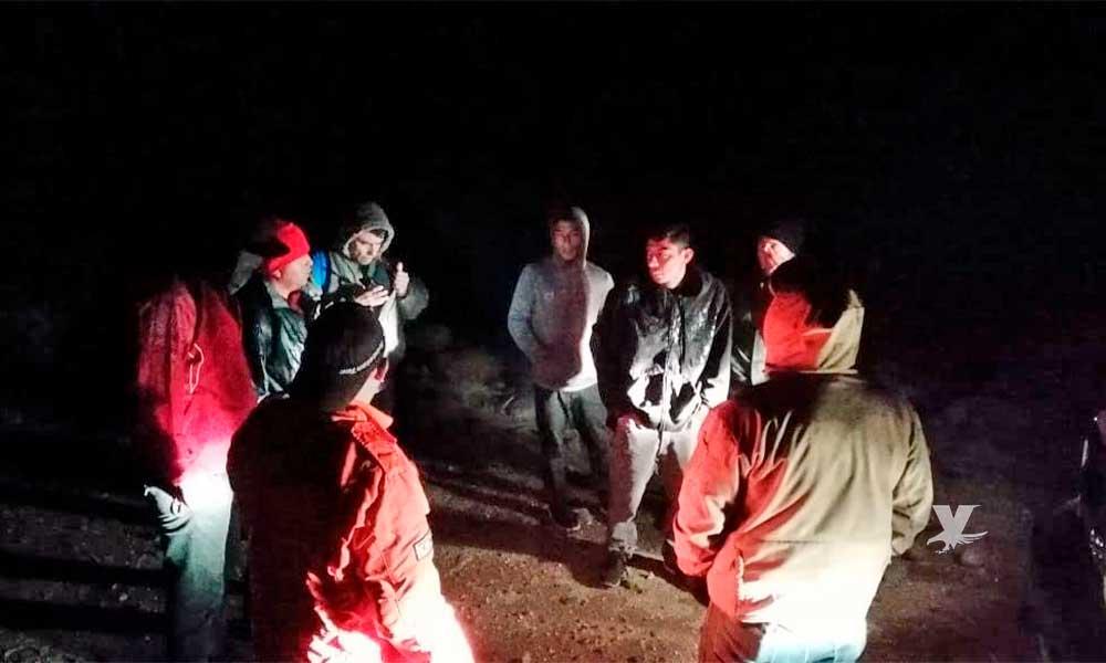 Rescatan a 5 migrantes en La Rumorosa