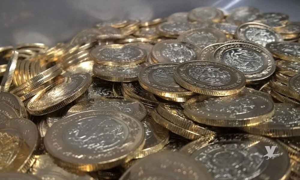 En México circulan miles de monedas de 10 pesos falsas