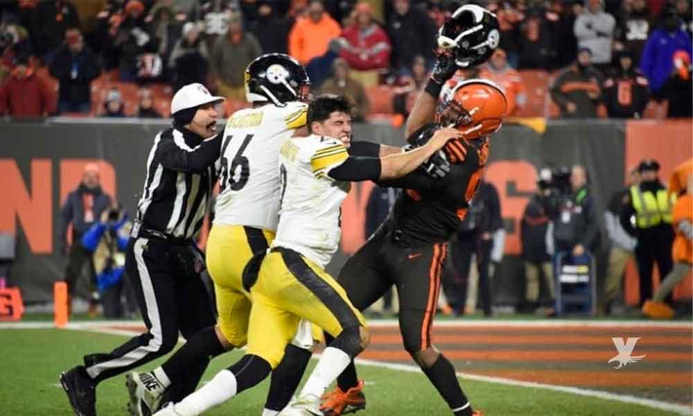 (VIDEO) Suspende indefinidamente de la NFL a jugador de Browns por pelea campal