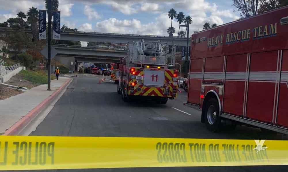Gas provoca explosión en alcantarillas de calles en el centro de San Diego