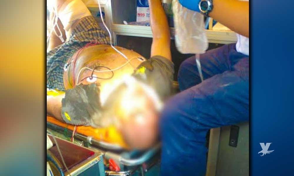 Hombre es trasladado a Hospital General de Tecate después de electrocutarse