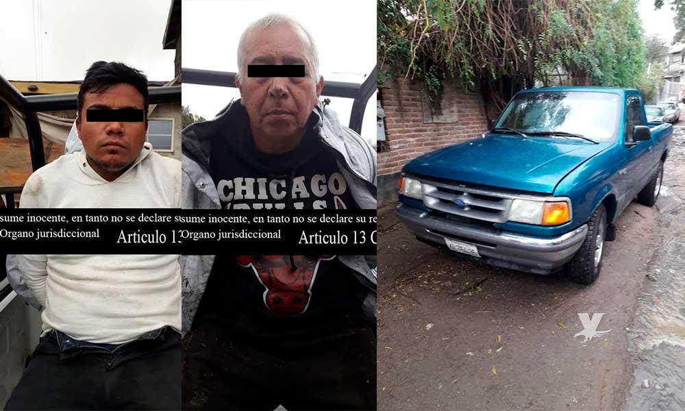 Detienen a dos por posesión de vehículo con reporte de robo