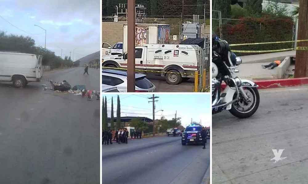Intentan asaltar camión de valores en Tijuana, un delincuente muerto y un custodio lesionado
