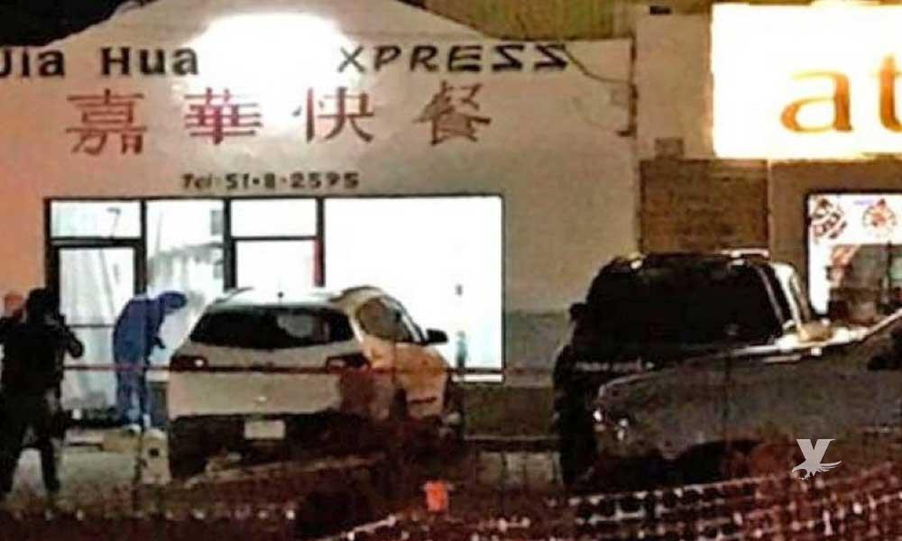 Policías Municipales son asesinado mientras cenaban comida china