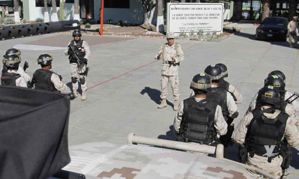 Militares detienen a 2 hombres en el puesto 'El Centinela' en posesión de buches de totoaba