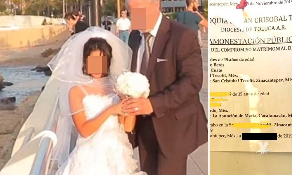 DIF logra cancelar boda entre hombre de 45 años y una adolescente de 15 años