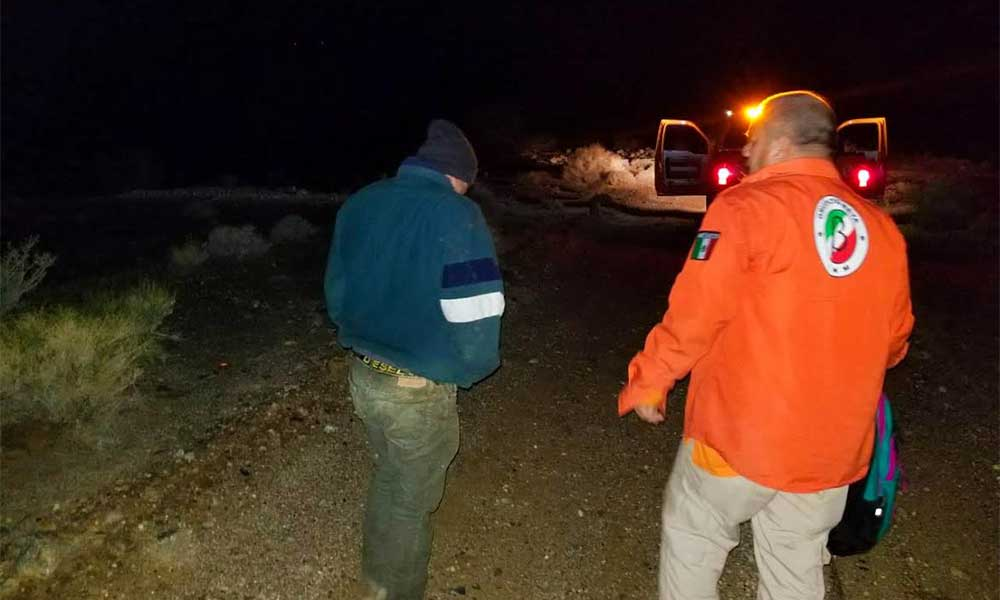 Rescatan a migrante en zona desértica de Tecate