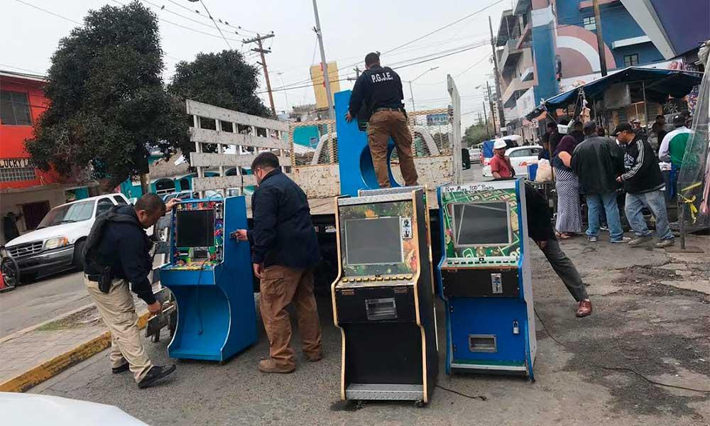 Realiza Fiscalía General del Estado 3 cateos y decomisa 35 máquinas traga monedas