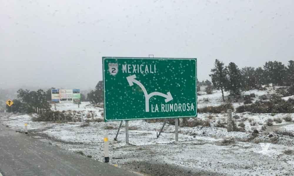 Pronostican nevadas en zonas serranas de Baja California