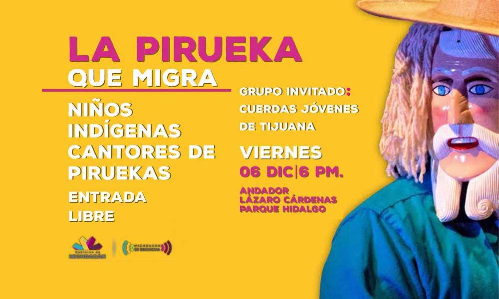 La PIREKUA migra a Tecate, concierto de música tradicional interpretada por niños indígenas Purépechas