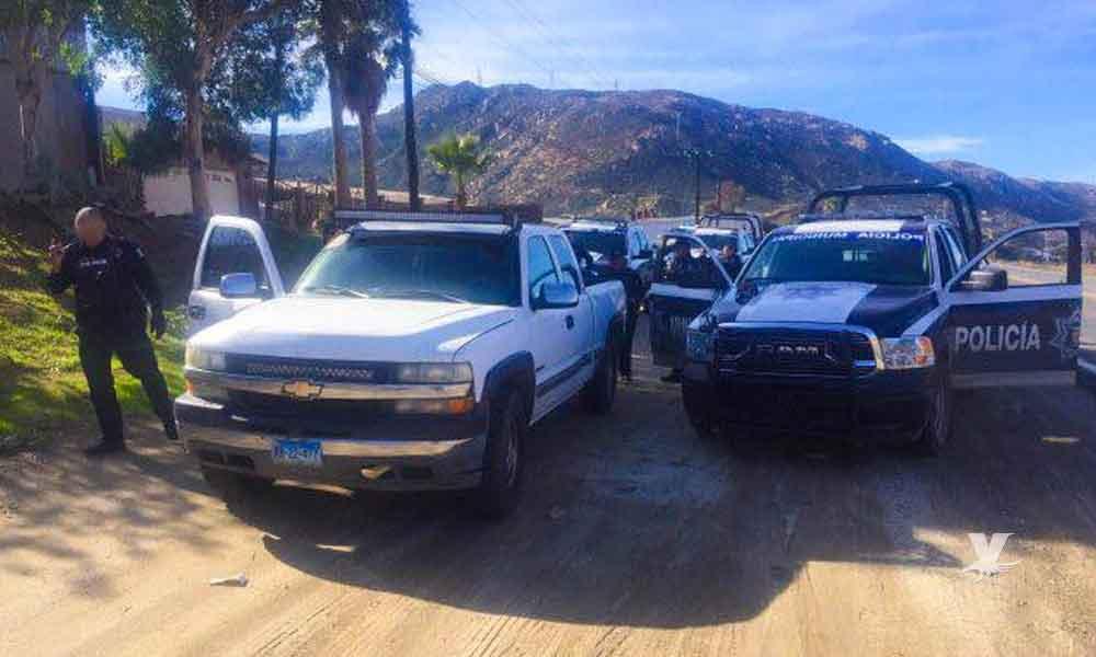 Recupera Policía Municipal de Tecate pick-up robado en la zona centro de la ciudad