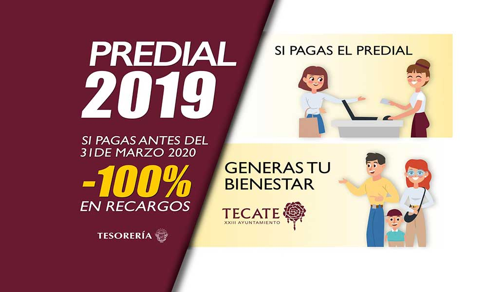 Se amplía plazo para pago de predial sin recargos en Tecate