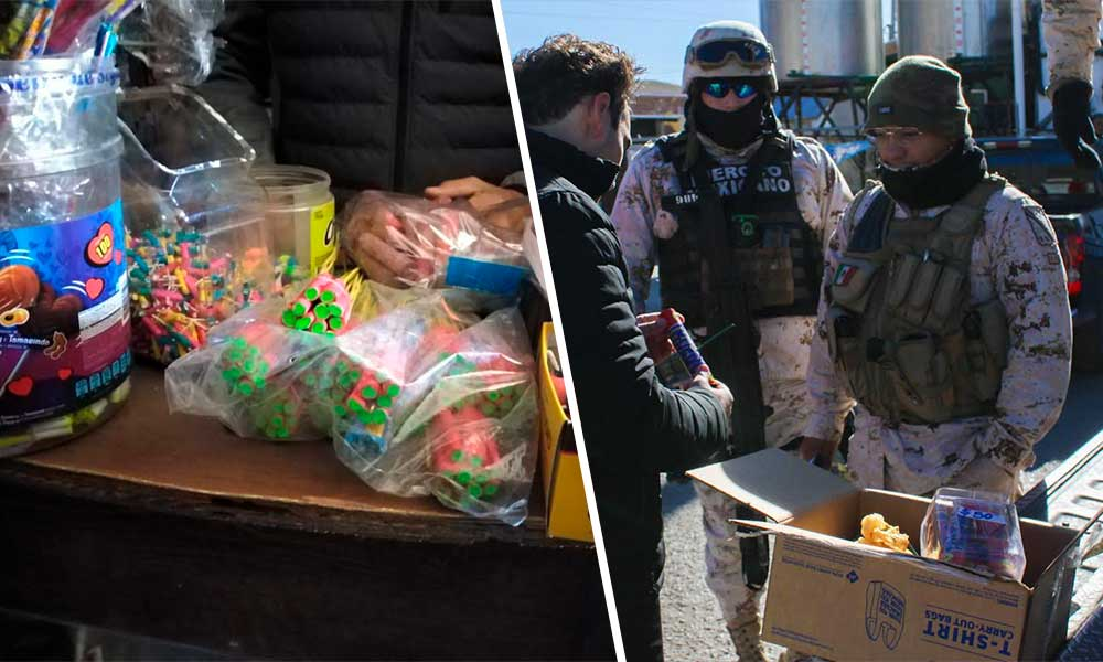 Realizan operativo sorpresa anti-pirotecnia  en Tecate