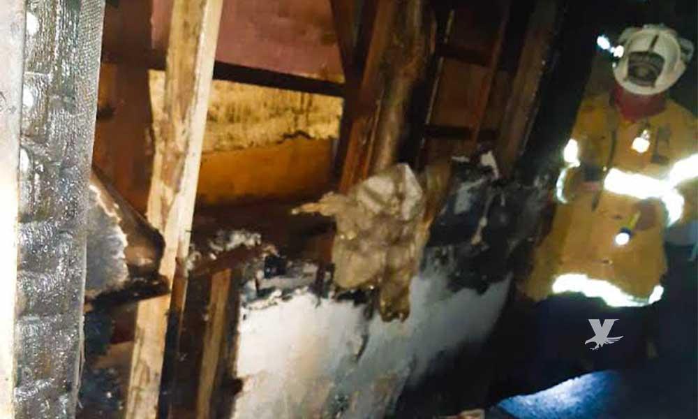 """Incendio en """"la Coyotera"""" deja una persona calcinada en Tecate"""