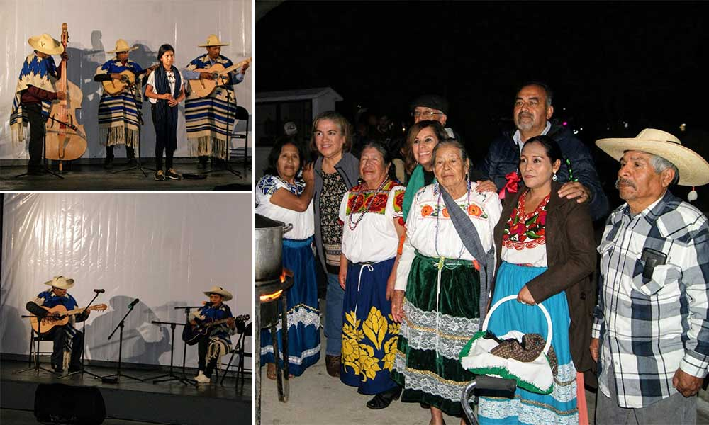 """Niños indígenas interpretan """"Pirekuas"""" ante tecatenses en el Parque Hidalgo"""