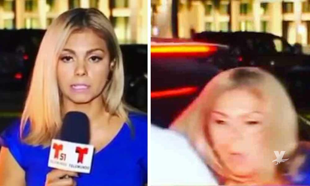 (VIDEO) Reportera de Telemundo transmitía en vivo y estuvo a punto de ser atropellada