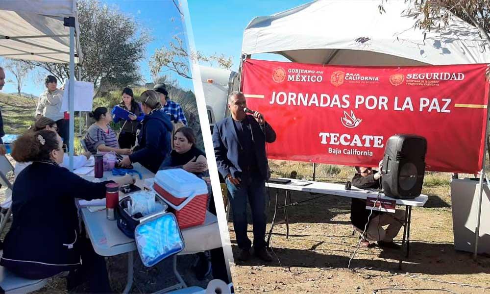 Arrancan 'Jornadas por la Paz' en Tecate en colonia Libertad