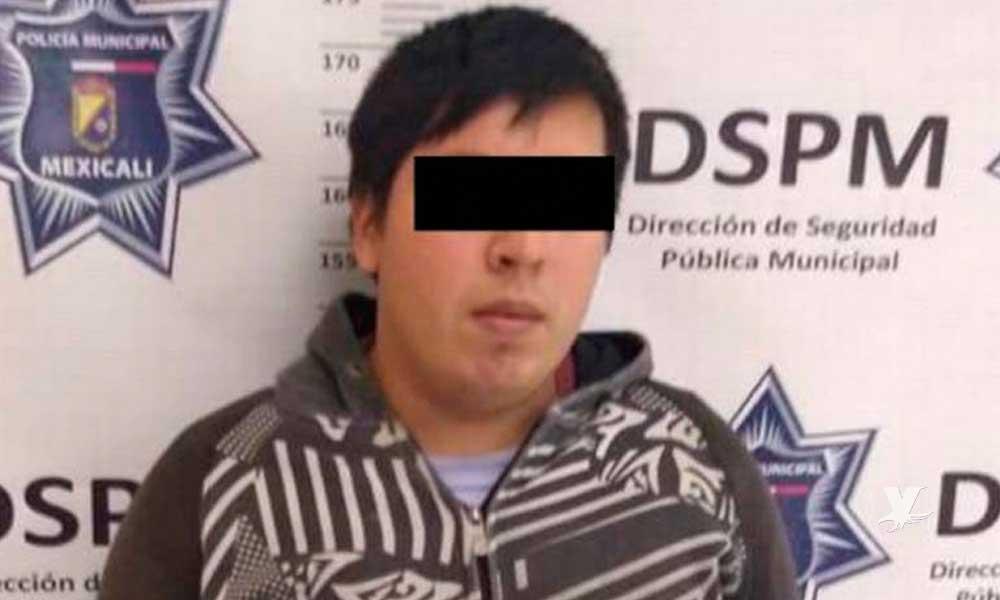 Detienen en Mexicali a sujeto que intentó abusar de su cuñada de 12 años de edad